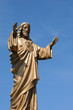 Quebec, a statue of Jesus in the village of Baie des sables
