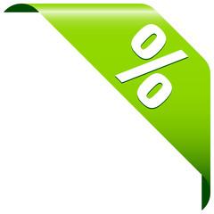 """Banner """"%"""" Green"""