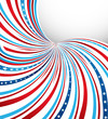 American Flag swirl wave Independence Day background vector