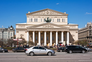 Square, the Bolshoi Theater in Moscow