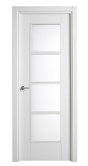 white wooden doors