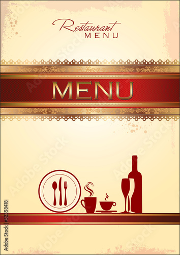 Golden menu template