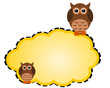 Owls note paper background
