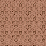 funny animals seamless pattern