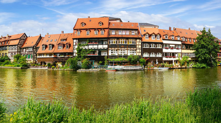 Facades of houses in Bamberg Bavaria
