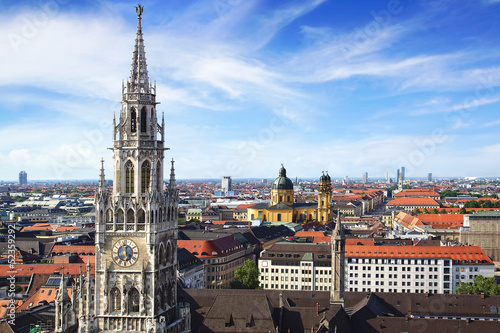 Panoramic view at the Munich.
