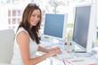 Female designer at her desk