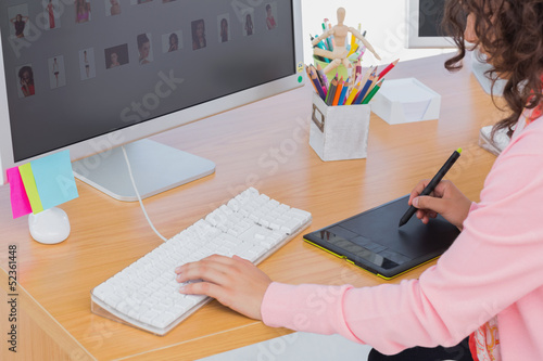 Editor using graphics tablet