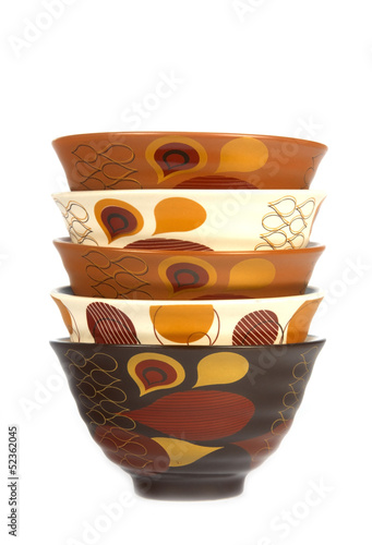Stack of bowls in different colors 2