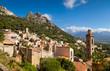 Leinwandbild Motiv village de Lumio-Corse