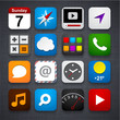 Quadro Set of app icons.