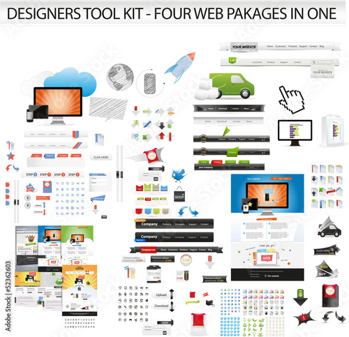 XL web graphic collection including web templates