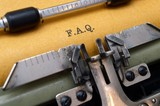F.A.Q. on typewriter