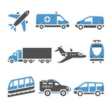Transport Icons - A set of seventh
