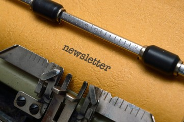 Newsletter on typewriter