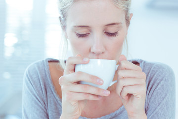 Woman drinking tea