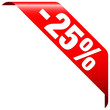 """Banner """"-25%"""" Red"""