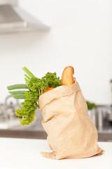 Vegetables in a paper bag