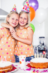 Twins celebrating their birthday
