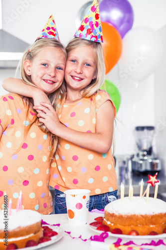 Twins celebrating their birthday