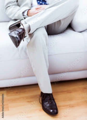 Legs of a businessman