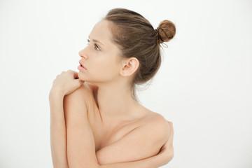 Seductive woman topless