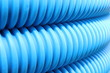 Blue hose plastic pipe