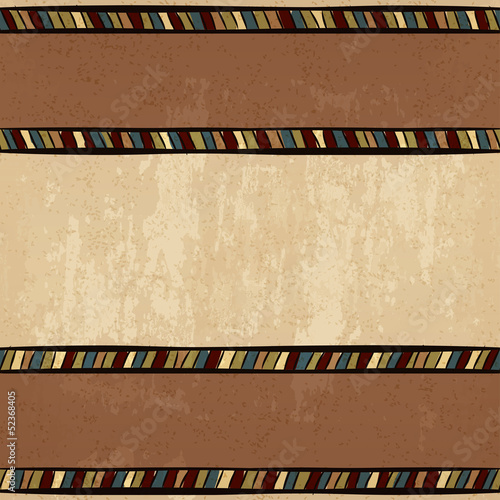 vintage ethnic background hand-drawn seamless ornament