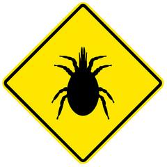 Sinal de perigo - ácaros