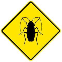 Sinal de perigo - baratas