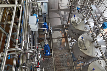 Food industry, interior of brewery
