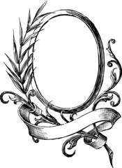vintage round frame