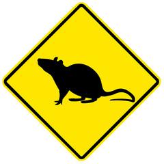 Sinal de aviso - ratos