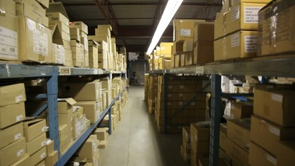 Warehouse, boxes.