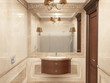 Interior the bathroom in classic style - 52369652