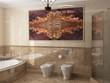 Leinwanddruck Bild - Interior the bathroom in classic style