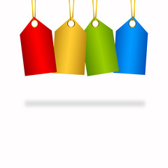 4 Colourful hanging tags