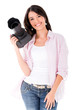 Happy Female Photographer