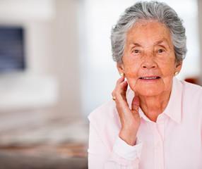 Portrait of an elder woman