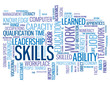 Постер, плакат: SKILLS Tag Cloud performance talent personal development goals