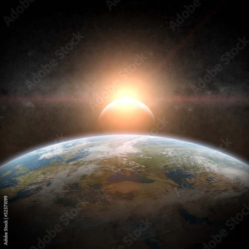 Eclipse of the sun on Planet Earth