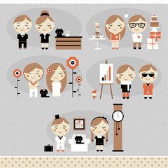 Cute vector  characters