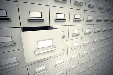 File cabinets.