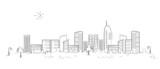Fototapety Panorama town - sketch illustration