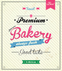 Bakery Retro Design Template. Vector