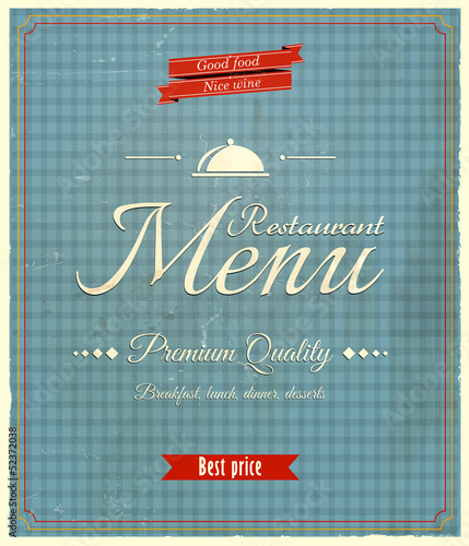 Restaurant menu-Retro design. Vector