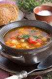 Soup with beans and vegetables.