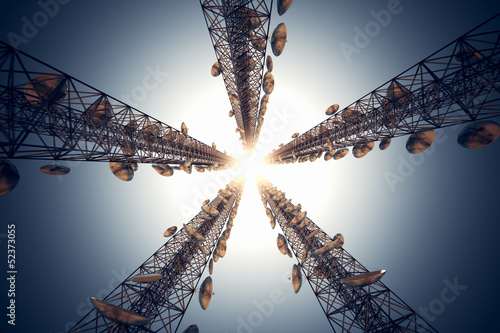 Communication towers. - 52373055