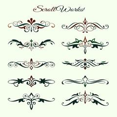 Scroll works Design, Ornamental decorative Elements © infografx