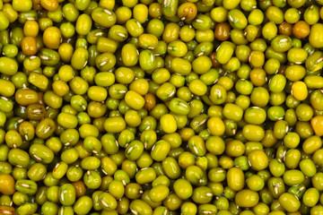 close up of mung bean background